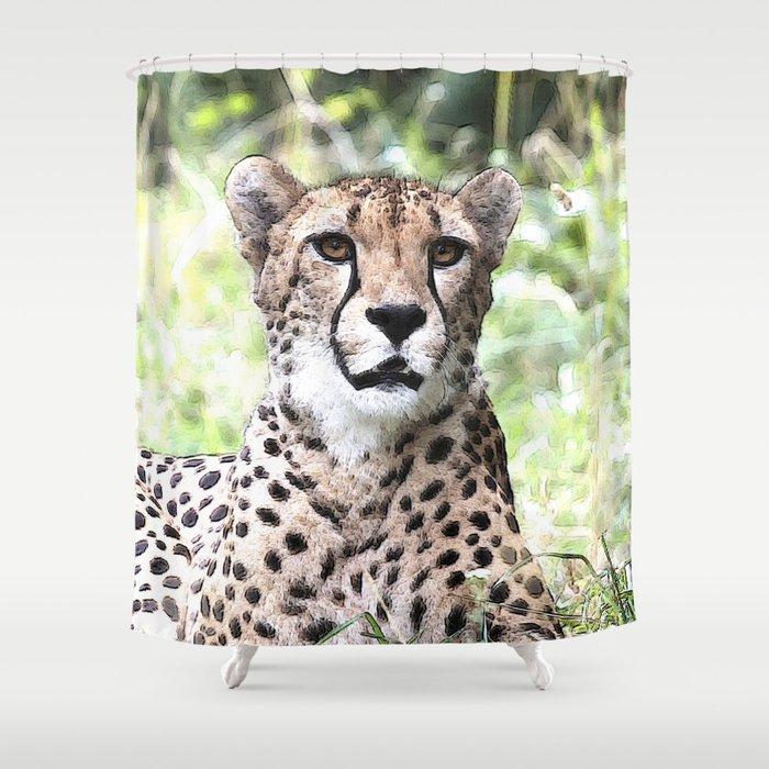 CArt Cheetah Shower Curtain
