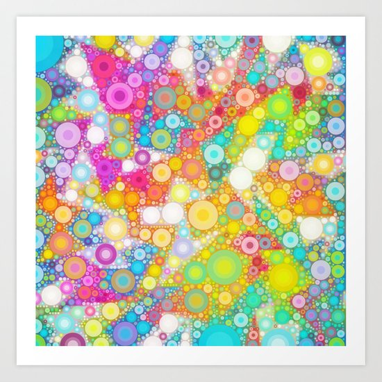 Sunny Bubbles on the Water Art Print