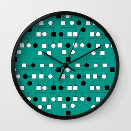 Pedigree Analysis - Autosomal Recessive Wall Clock