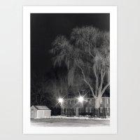 Night Willow Art Print