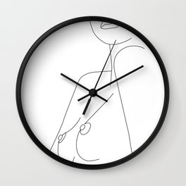 Nude Line Wall Clock