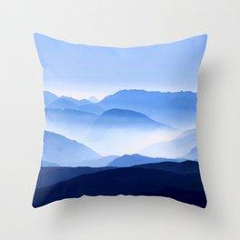 Blue Mountain Horizon Throw Pillow