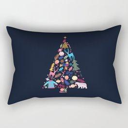 Magic of a christmas tree Rectangular Pillow