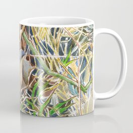 ground beneath my feet in spring: dry leaves, twigs and growing grass Coffee Mug