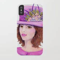 Doe-Eyed Girl by Jane Purcell iPhone X Slim Case