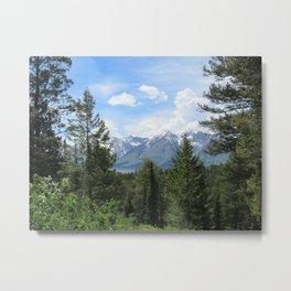 Mountain Lake and Snow Yellowstone National Park Metal Print