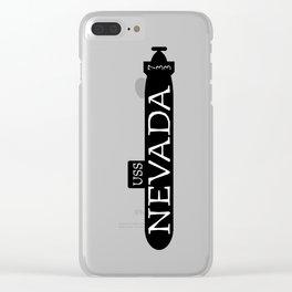 USS Nevada Submarine Clear iPhone Case