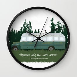 Into The Wild - Magic Bus Wall Clock
