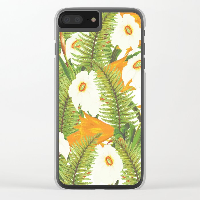 Summer Narcissus Clear iPhone Case