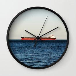 Cargo Ship Seascape Wall Clock