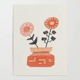 Floral vibes V Poster