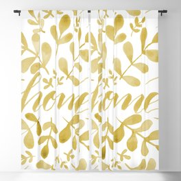 Watercolor home foliage – yellow Blackout Curtain