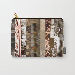 Brown Intersections Carry-All Pouch