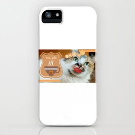 PSL Life Cat Basic Pumpkin Spice Latte Kitty iPhone Case