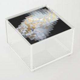 Squares in Gold and Silver Acrylic Box