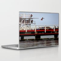 diver Laptop & iPad Skins featuring Sky Diver by Chris' Landscape Images & Designs
