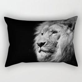 Lion Black and white Rectangular Pillow