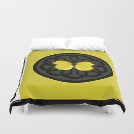 Fruit of the Spirit, Gentleness (Yellow Carbon) Duvet Cover