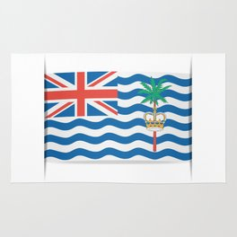 Flag of British Indian Ocean Territory. The slit in the paper with shadows.  Rug