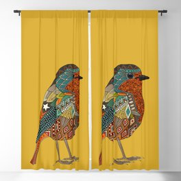 robin gold Blackout Curtain