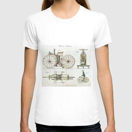 1885 Daimler Reitwagen Motorcycle Prototype Patent T-shirt