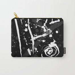 Black and White Abstract Modern Ink Splatter Carry-All Pouch