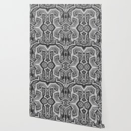 Graphic swirly abstract in B&W Wallpaper