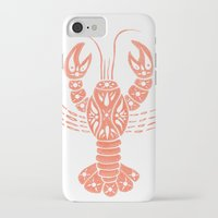 lobster iPhone & iPod Cases featuring Lobster by NoelleGobbi