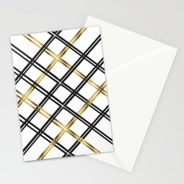 Crosshatch in Gold Stationery Cards