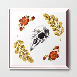 Aves and flowers Metal Print
