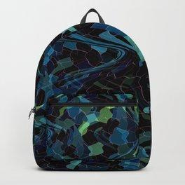 Deep Blue Mosaic Backpack