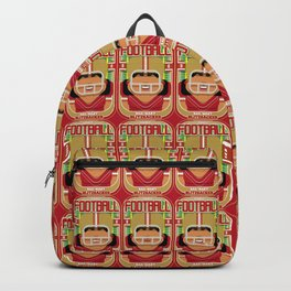 American Football Red and Gold - Hail-Mary Blitzsacker - Indie version Backpack