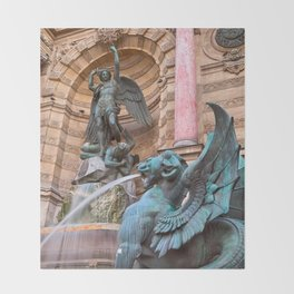Saint-Michel Fountain Throw Blanket