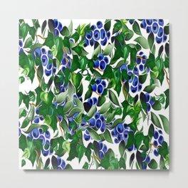 Blueberries and Ivy Metal Print