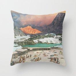 Jade Lake Resort Throw Pillow