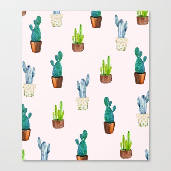 Cactus Formation #society6 #decor #buyart Canvas Print