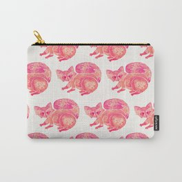 Watercolor Raccoon – Pink Palette Carry-All Pouch