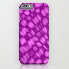 The intersection of poisonous droplets of a glamorous grid of dark cracks on the glass. iPhone Case