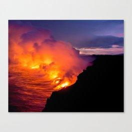 Sea of Flames Canvas Print