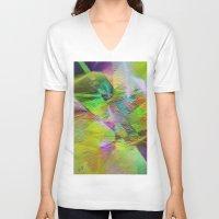 "lemon V-neck T-shirts featuring "" Lemon ""  by shiva camille"