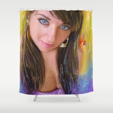 Blue Look Shower Curtain