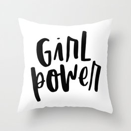 Girl Power 2 Throw Pillow