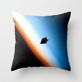 Raptor orbit Throw Pillow