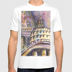 St. Marks Cathedral in Venice White Mens Fitted Tee MEDIUM