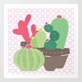 Cactus , succulent plants ,  botanical Art Print