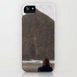 Hiding Behind Haystack Rock - Film Photograph taken in Cannon Beach, Oregon iPhone Case