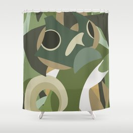 Shapes of Bruce Shower Curtain