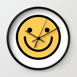 Smiley Face   Cute Simple Smiling Happy Face Wall Clock