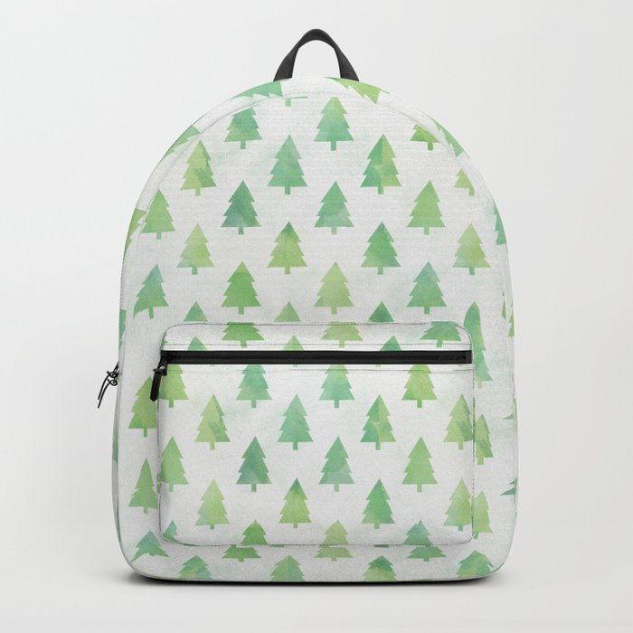 Simple Pine Tree Forest Pattern Backpack