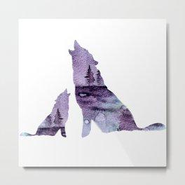 Howling Wolves Metal Print